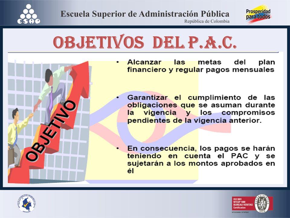 OBJETIVOS DEL P.A.C.