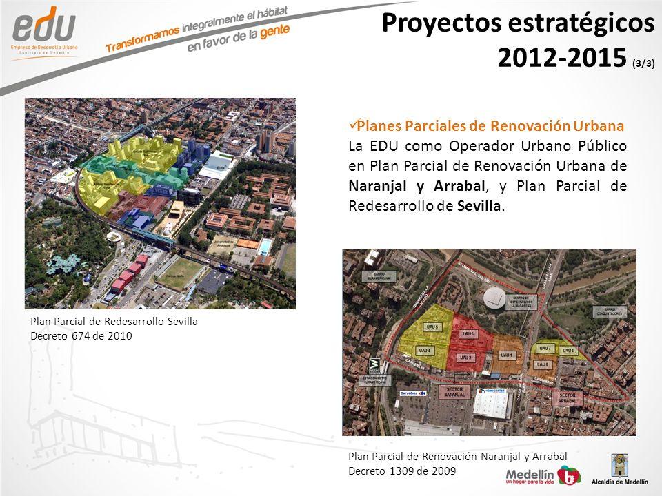 Planes Parciales de Renovación Urbana La EDU como Operador Urbano Público en Plan Parcial de Renovación Urbana de Naranjal y Arrabal, y Plan Parcial d
