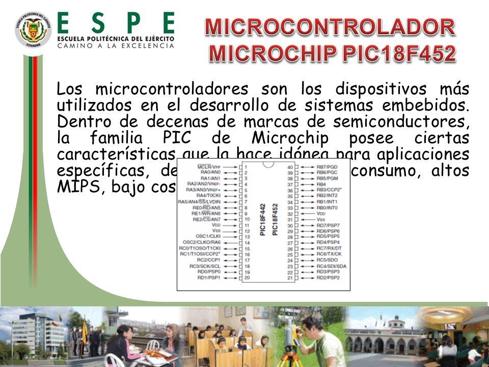 Los microcontroladores son los dispositivos más utilizados en el desarrollo de sistemas embebidos. Dentro de decenas de marcas de semiconductores, la