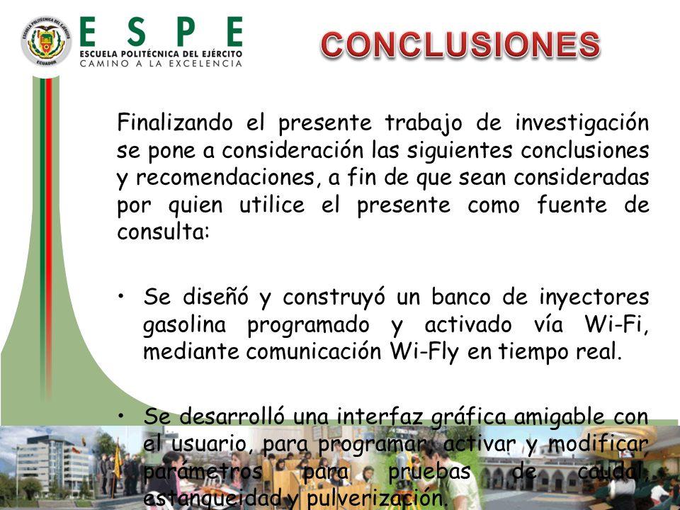 Finalizando el presente trabajo de investigación se pone a consideración las siguientes conclusiones y recomendaciones, a fin de que sean consideradas