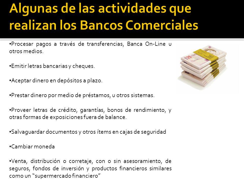 Procesar pagos a través de transferencias, Banca On-Line u otros medios.