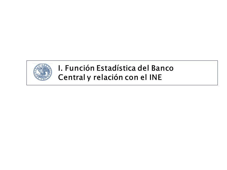 I. Función Estadística del Banco Central y relación con el INE