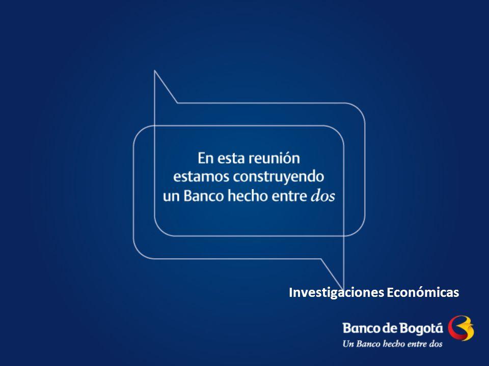 22 Fuente: Banco de la República, Reuters.Cálculos Investigaciones Económicas Banco de Bogotá.