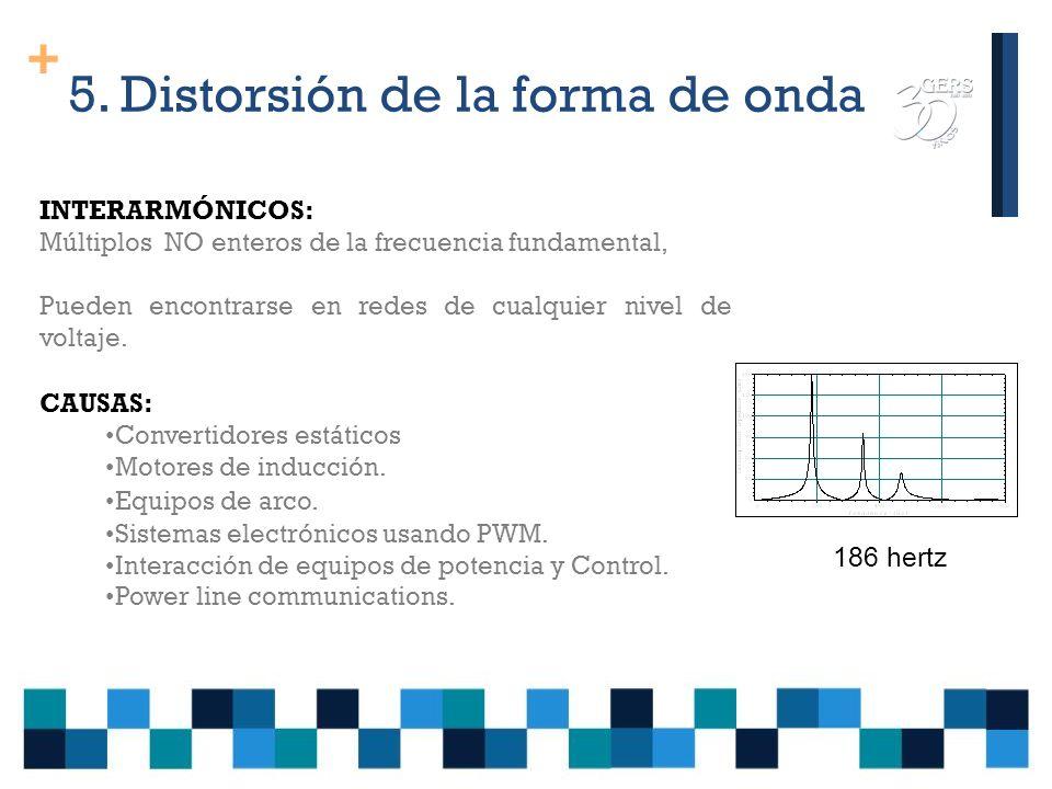 + 5. Distorsión de la forma de onda