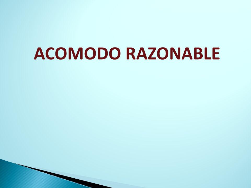 ACOMODO RAZONABLE