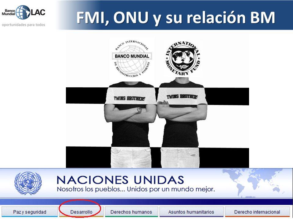 FMI, ONU y su relación BM