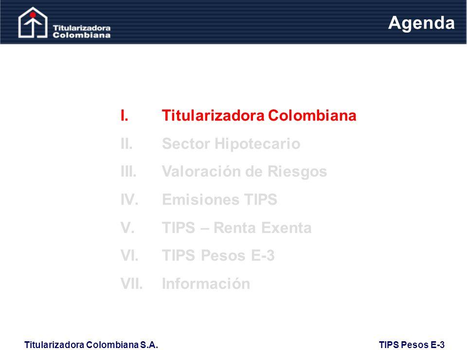 Titularizadora Colombiana S.A. TIPS Pesos E-3 Renta Exenta