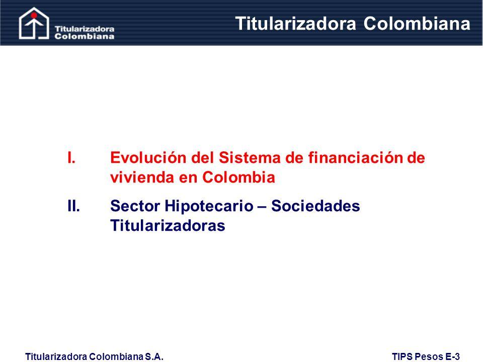 Titularizadora Colombiana S.A. TIPS Pesos E-3 Evolución Mora 120 Días