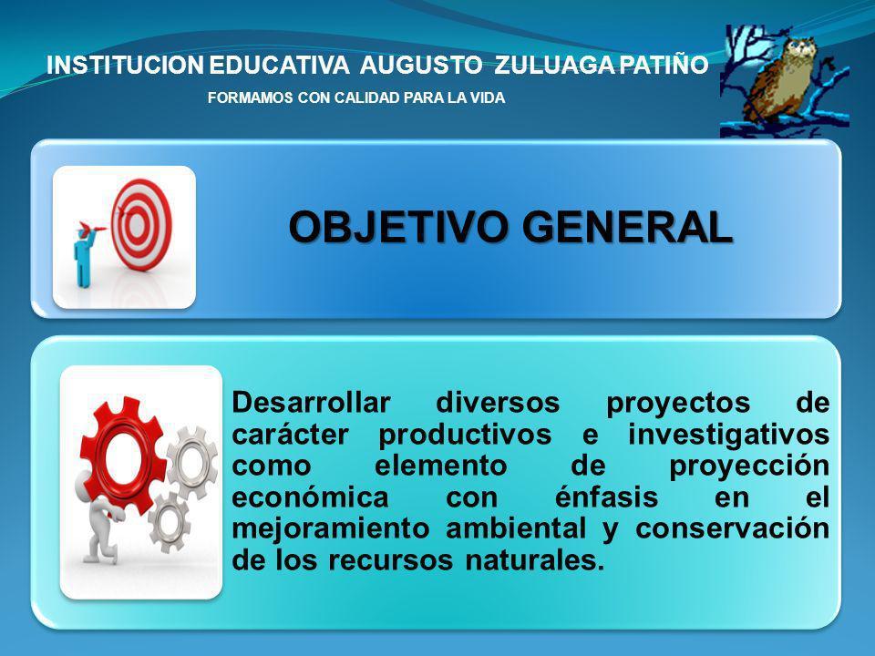 INSTITUCION EDUCATIVA AUGUSTO ZULUAGA PATIÑO FORMAMOS CON CALIDAD PARA LA VIDA PROYECTOS INVESTIGATIVOS