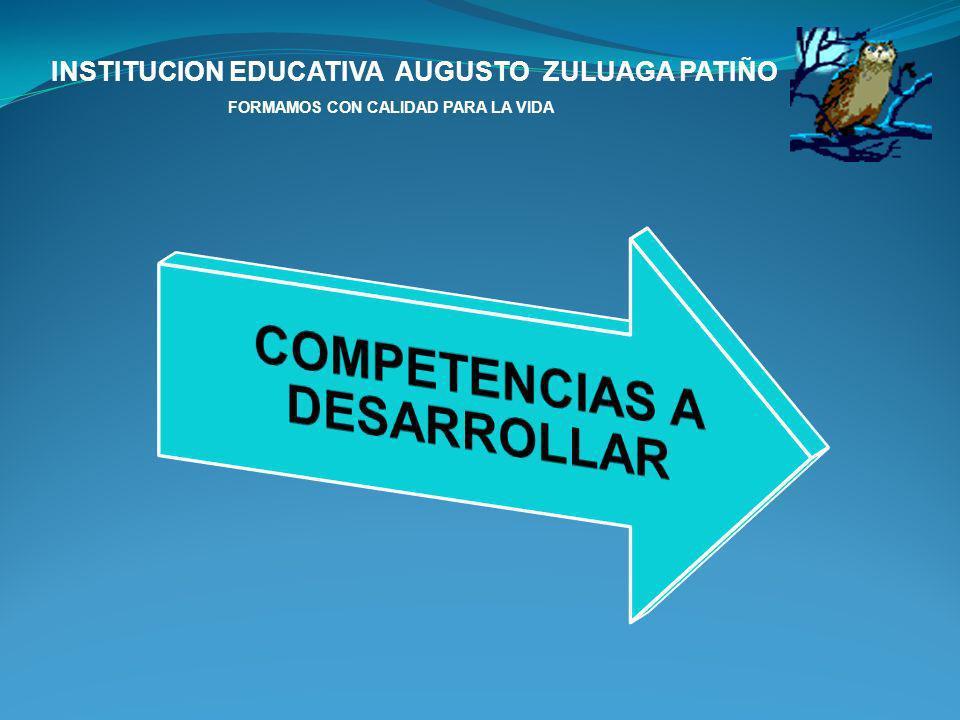 INSTITUCION EDUCATIVA AUGUSTO ZULUAGA PATIÑO FORMAMOS CON CALIDAD PARA LA VIDA 4.Determinar procedimientos para la auditoria ambiental.