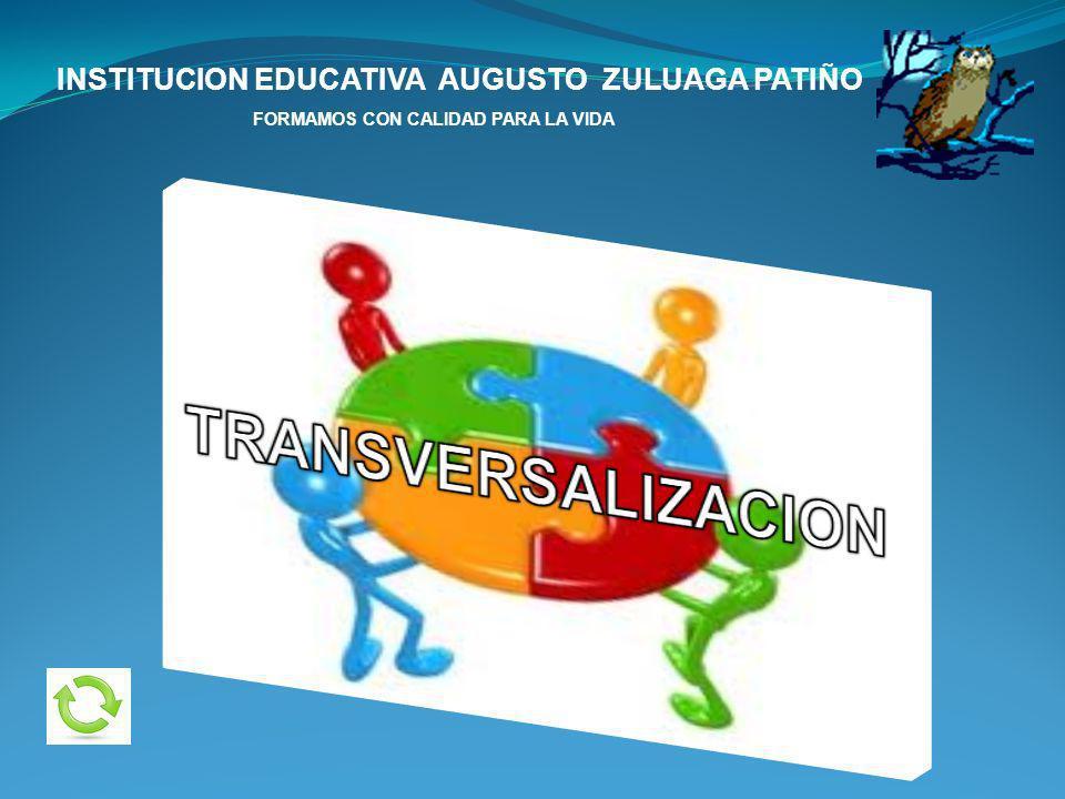 INSTITUCION EDUCATIVA AUGUSTO ZULUAGA PATIÑO FORMAMOS CON CALIDAD PARA LA VIDA SALIDAS DE CAMPO