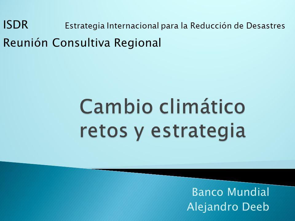 Banco Mundial Alejandro Deeb ISDR Estrategia Internacional para la Reducción de Desastres Reunión Consultiva Regional