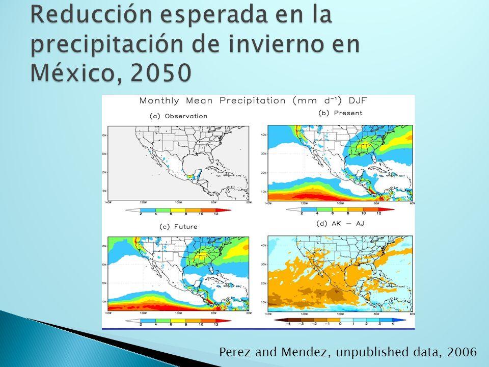 Perez and Mendez, unpublished data, 2006