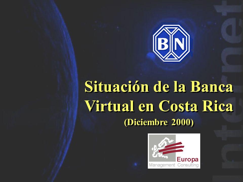 Página 2 Banco Nacional de Costa Rica (www.bncr.fi.cr) Posee un sitio web informativo, que ofrece: Novedades Productos Información general Planificado la apertura de servicios online en Enero 2001 (Fuente: La Nación, 20-11-2000) Permite realizar solicitudes en línea de: