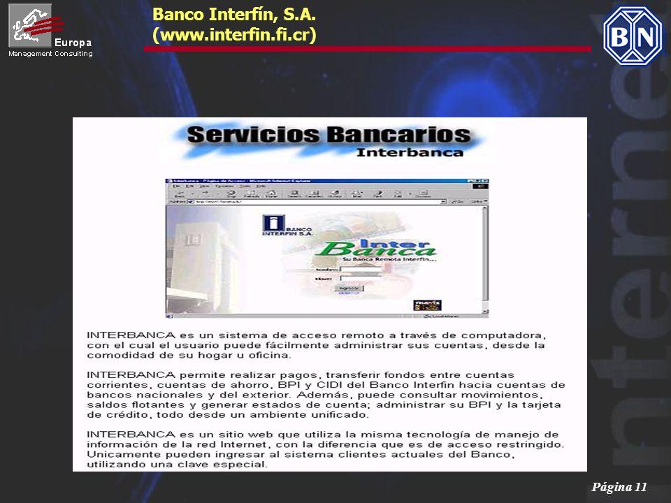 Página 11 Banco Interfín, S.A. (www.interfin.fi.cr)