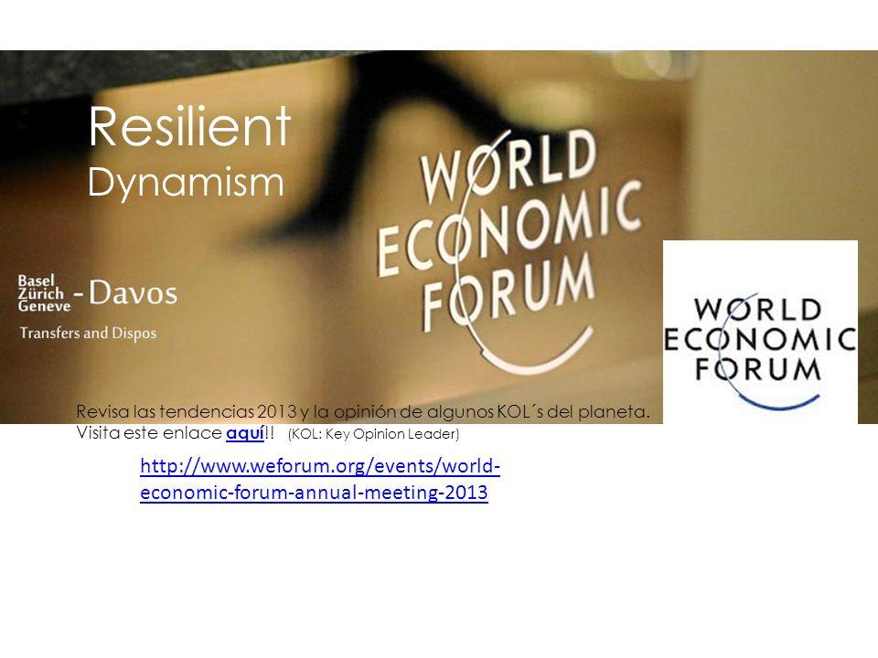 Resilient Dynamism Revisa las tendencias 2013 y la opinión de algunos KOL´s del planeta.