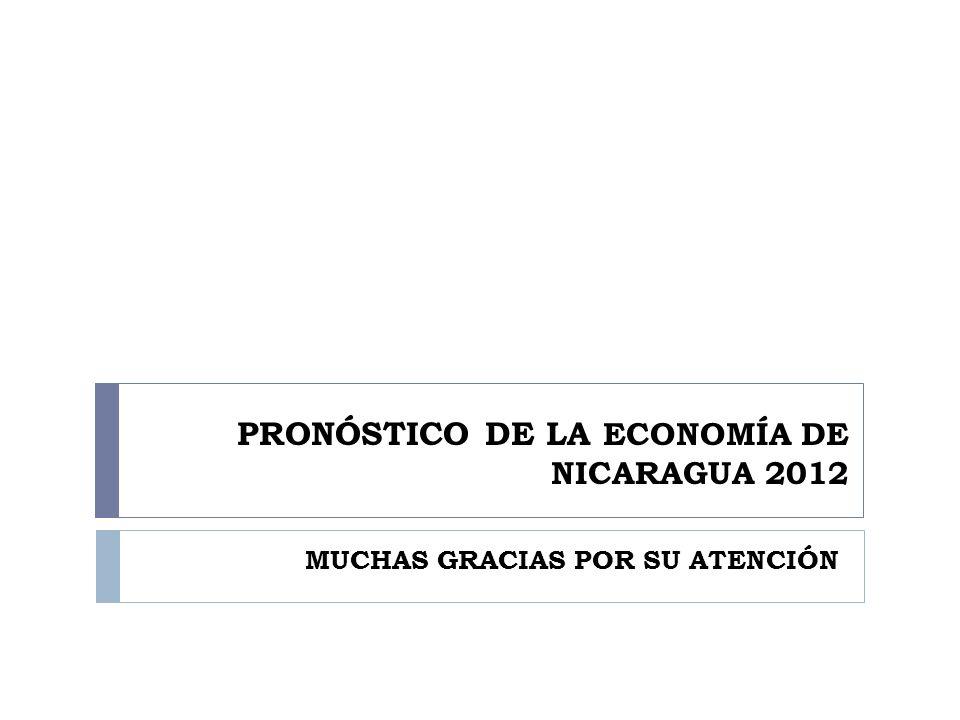 PRONÓSTICO DE LA ECONOMÍA DE NICARAGUA 2012 MUCHAS GRACIAS POR SU ATENCIÓN