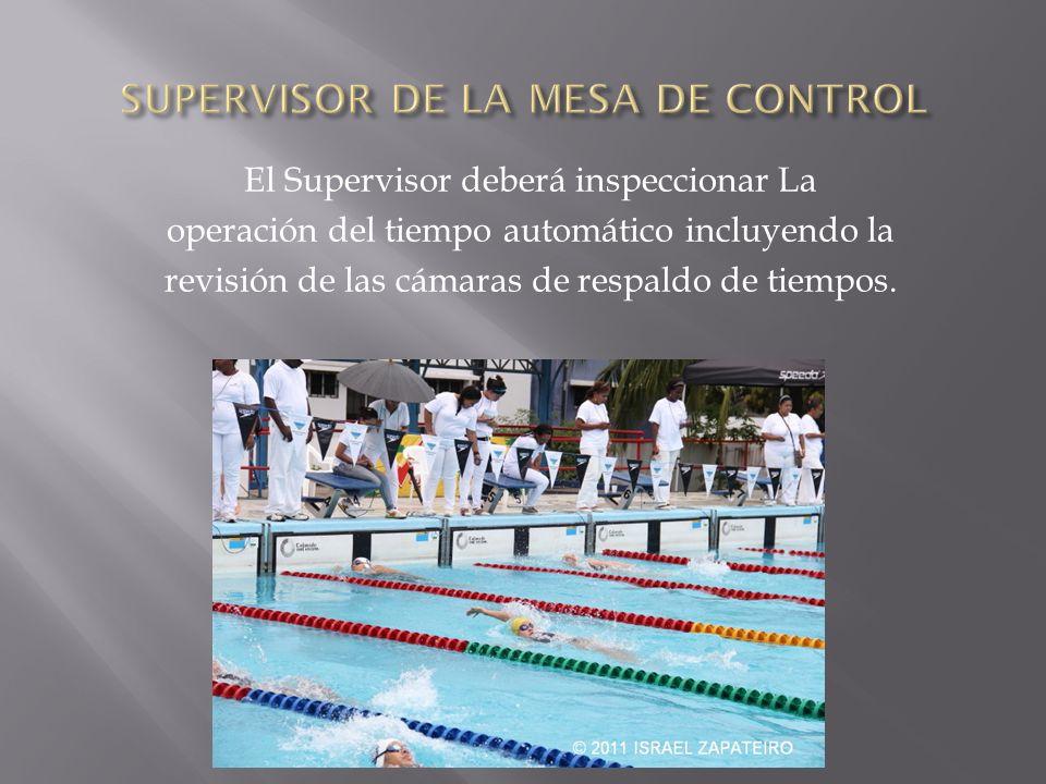 El Supervisor deberá inspeccionar La operación del tiempo automático incluyendo la revisión de las cámaras de respaldo de tiempos.