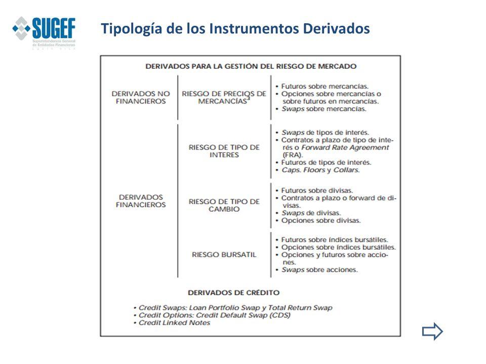 Tipología de los Instrumentos Derivados
