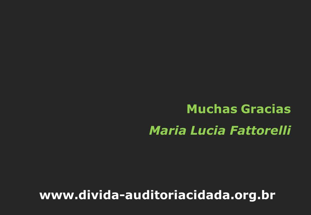 Muchas Gracias Maria Lucia Fattorelli www.divida-auditoriacidada.org.br