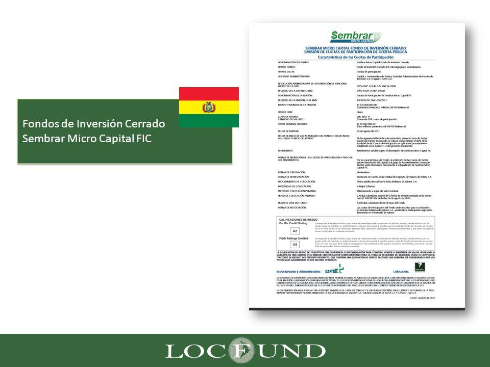Fondos de Inversión Cerrado Sembrar Micro Capital FIC Fondos de Inversión Cerrado Sembrar Micro Capital FIC