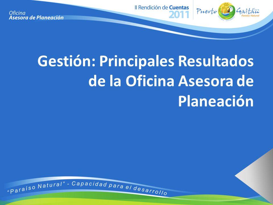 Gestión: Principales Resultados de la Oficina Asesora de Planeación