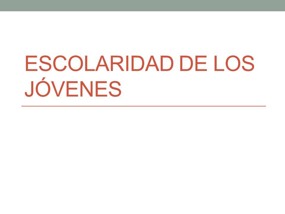 ESCOLARIDAD DE LOS JÓVENES