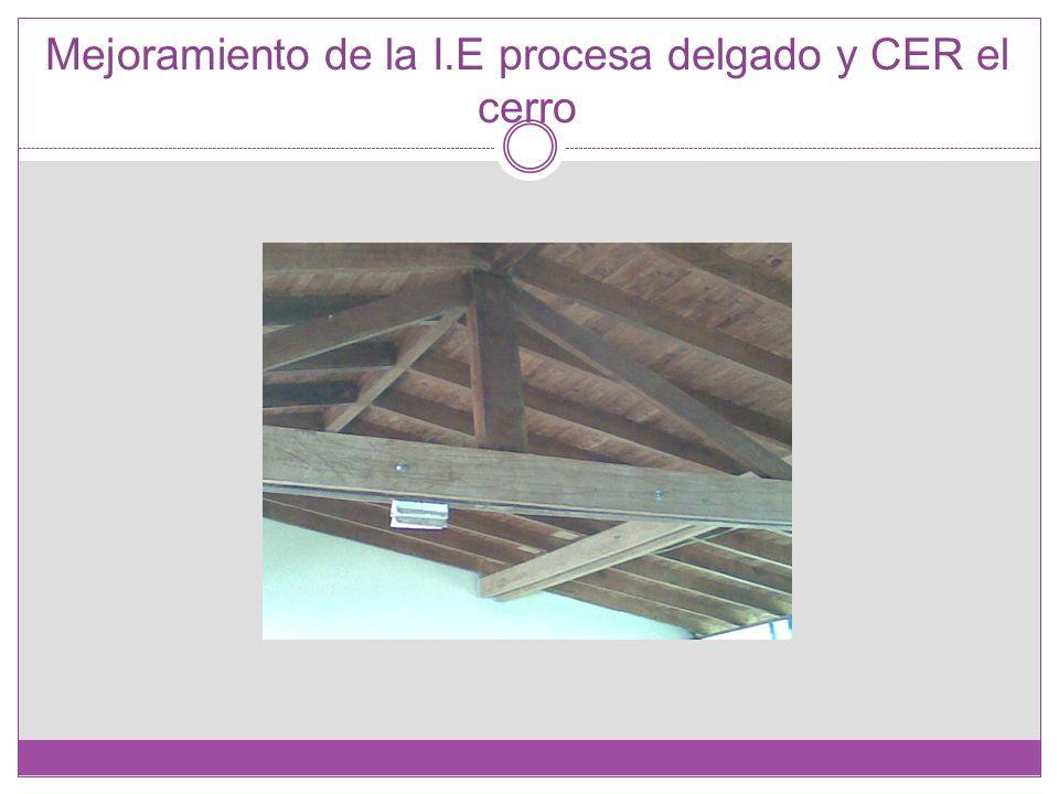 Mejoramiento de la I.E procesa delgado y CER el cerro