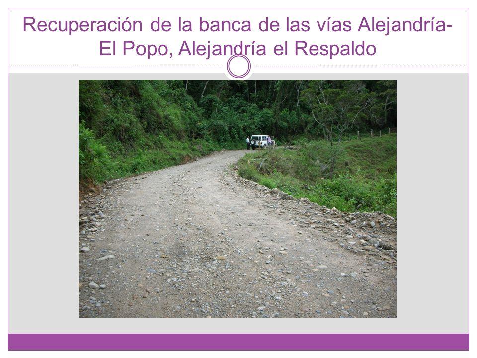 Recuperación de la banca de las vías Alejandría- El Popo, Alejandría el Respaldo