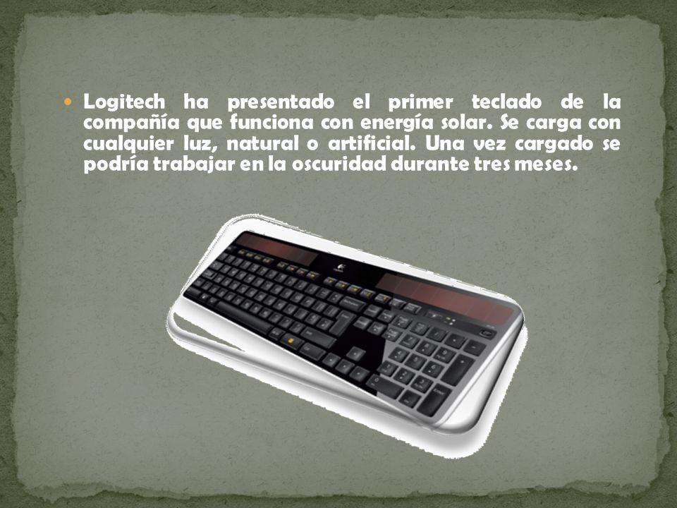Logitech ha presentado el primer teclado de la compañía que funciona con energía solar. Se carga con cualquier luz, natural o artificial. Una vez carg