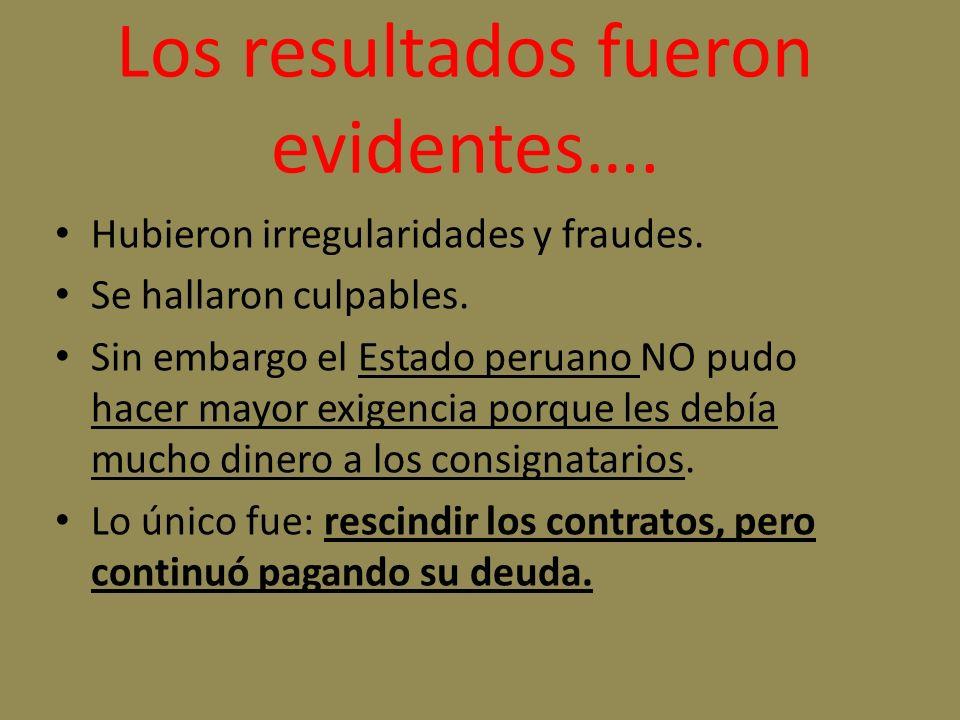 Los resultados fueron evidentes….Hubieron irregularidades y fraudes.