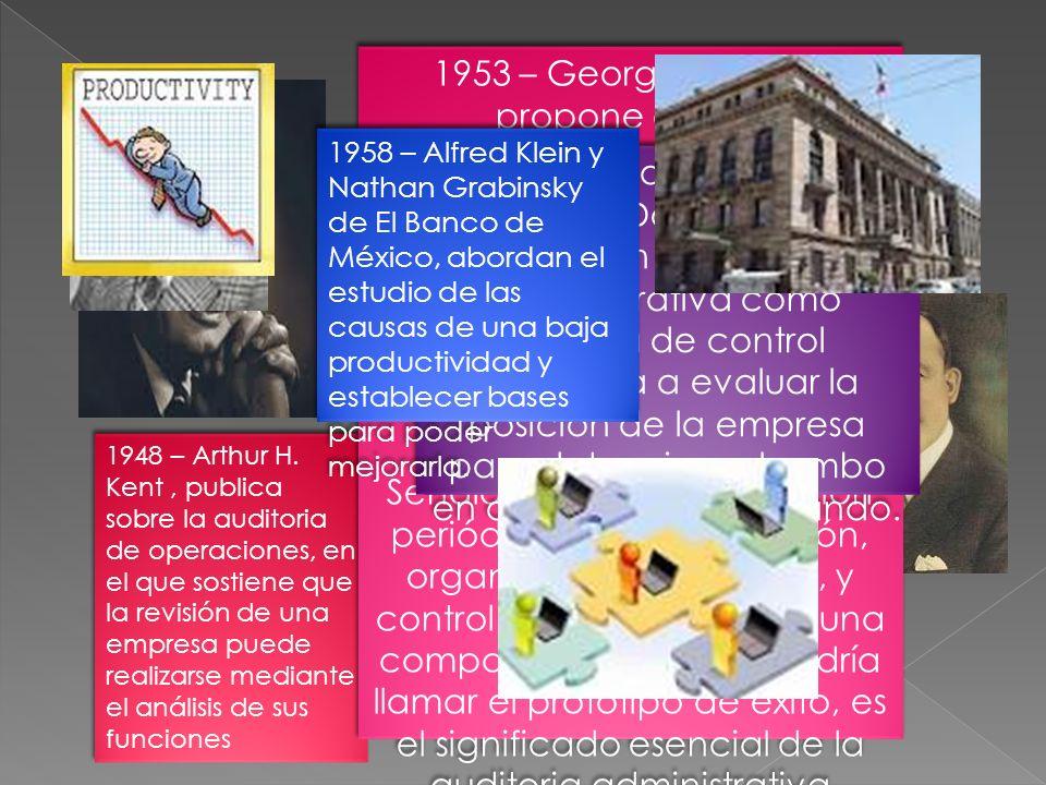 1933 - con el estudio de las funciones de una empresa. Lyndall F. Urwick, establece la importancia de los controles para estimular la productividad de