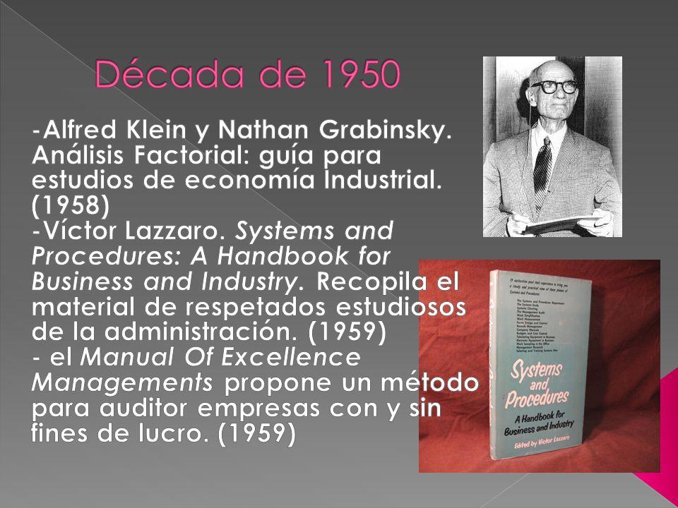 Edward F.Norbeck. (1965) La obra de C. A. Clark, Auditoría Social Para la Gerencia (1968) John C.