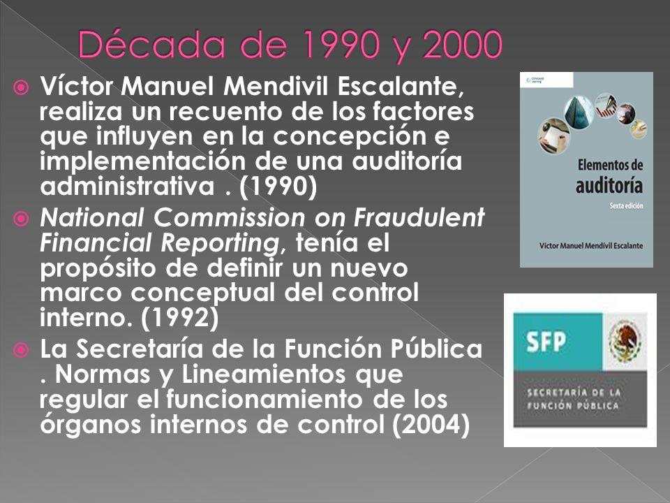 Víctor Manuel Mendivil Escalante, realiza un recuento de los factores que influyen en la concepción e implementación de una auditoría administrativa.
