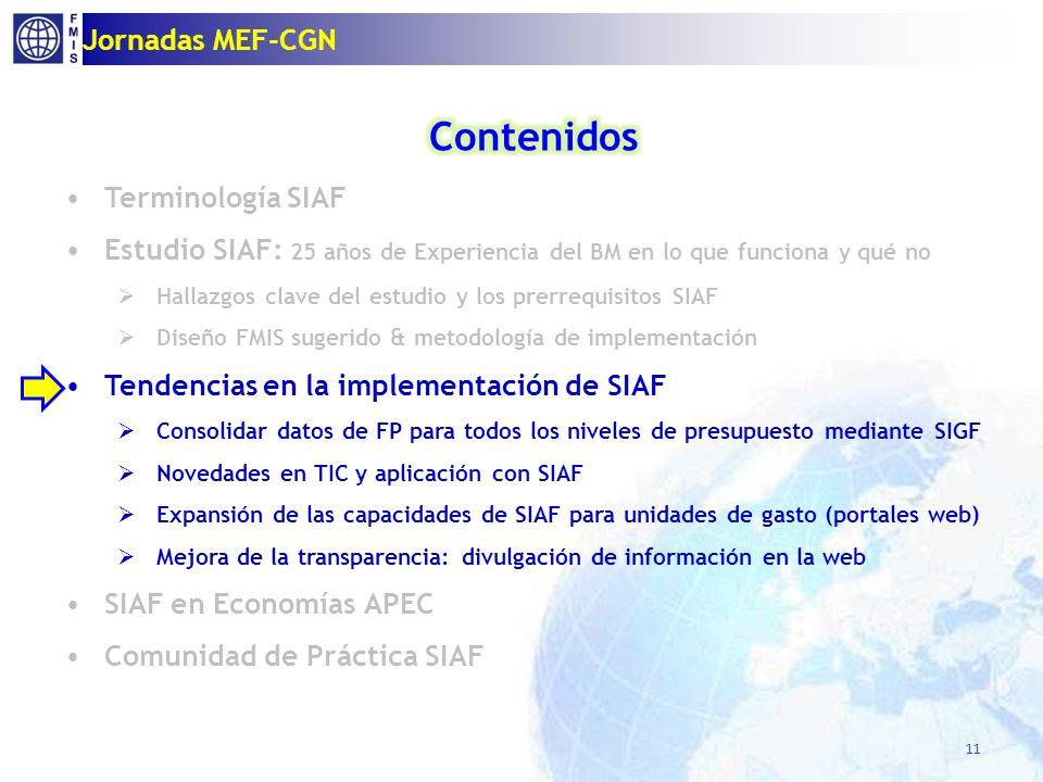 11 Jornadas MEF-CGN
