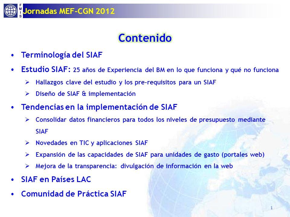 1 Jornadas MEF-CGN 2012
