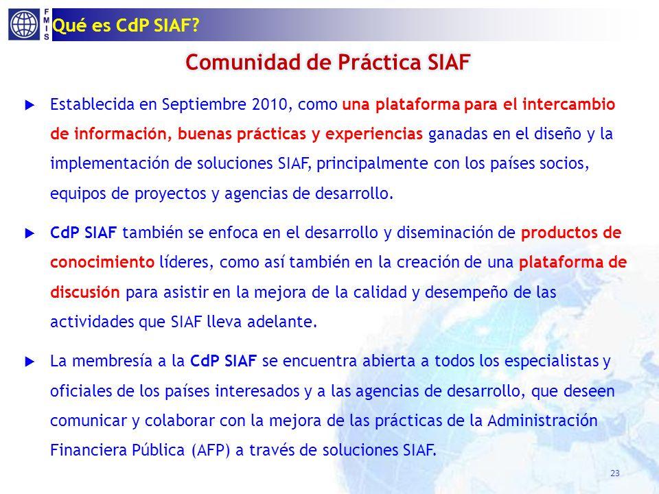 Qué es CdP SIAF? 23