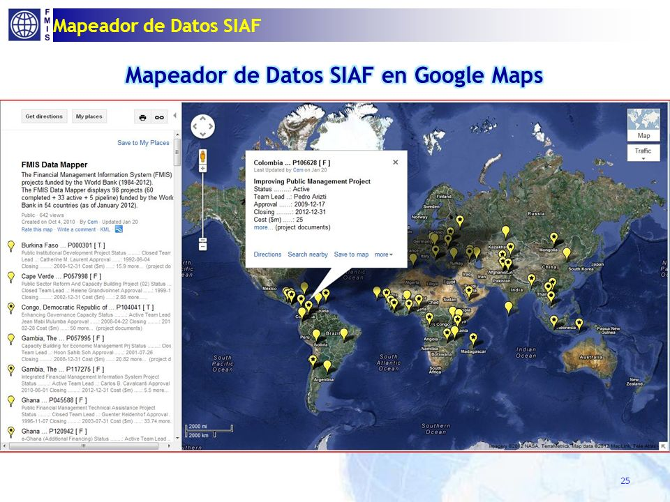 Mapeador de Datos SIAF 25