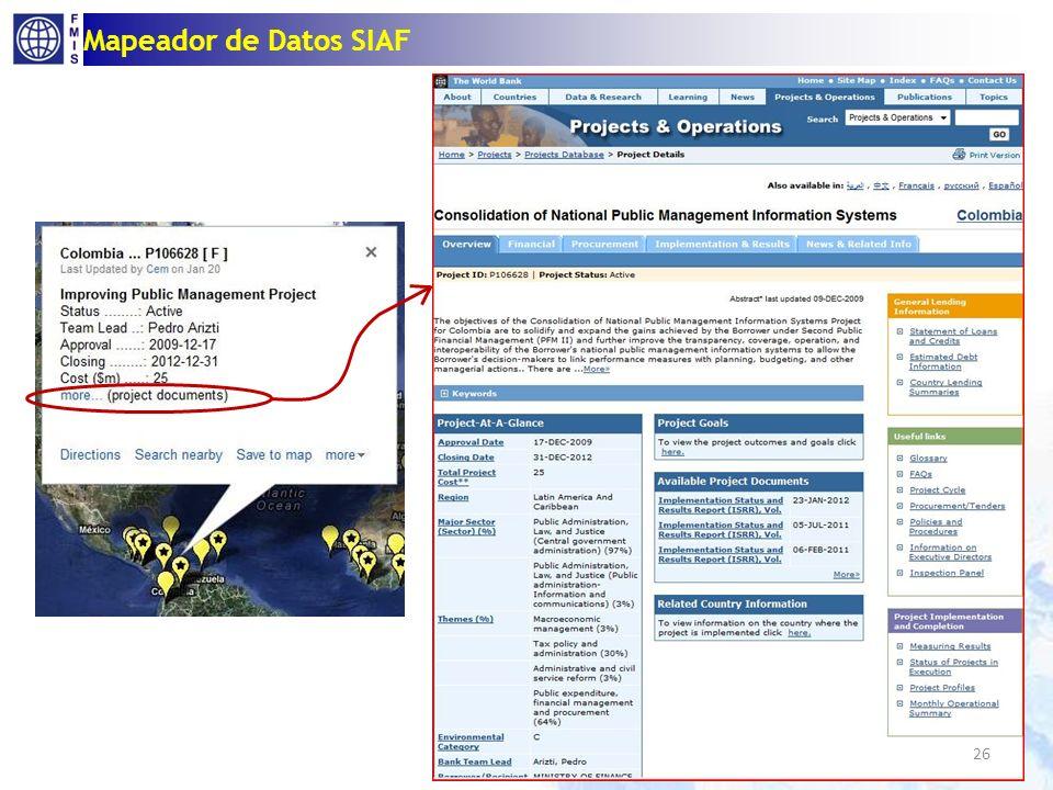 Mapeador de Datos SIAF 26