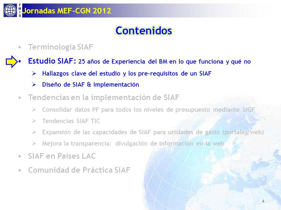 4 Jornadas MEF-CGN 2012