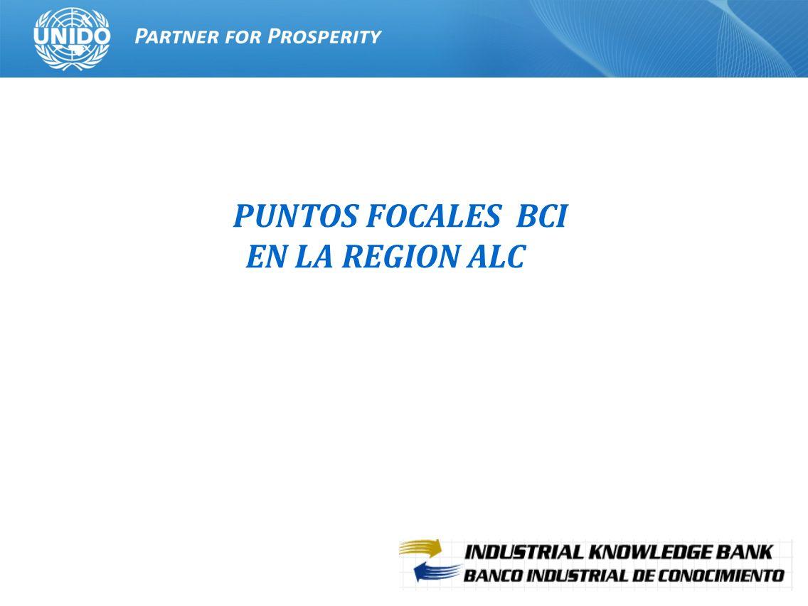 22 PUNTOS FOCALES BCI EN LA REGION ALC