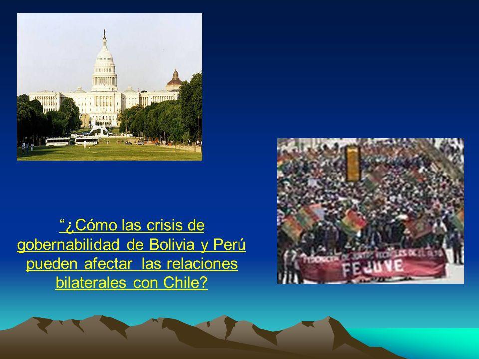 ¿Cómo las crisis de gobernabilidad de Bolivia y Perú pueden afectar las relaciones bilaterales con Chile?