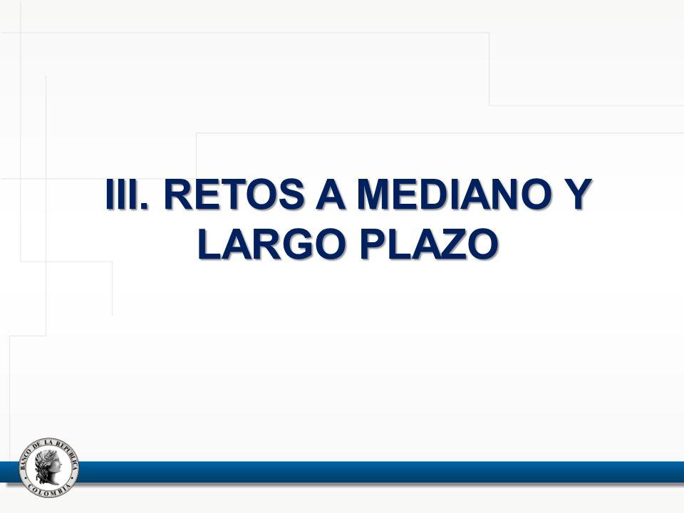 III. RETOS A MEDIANO Y LARGO PLAZO