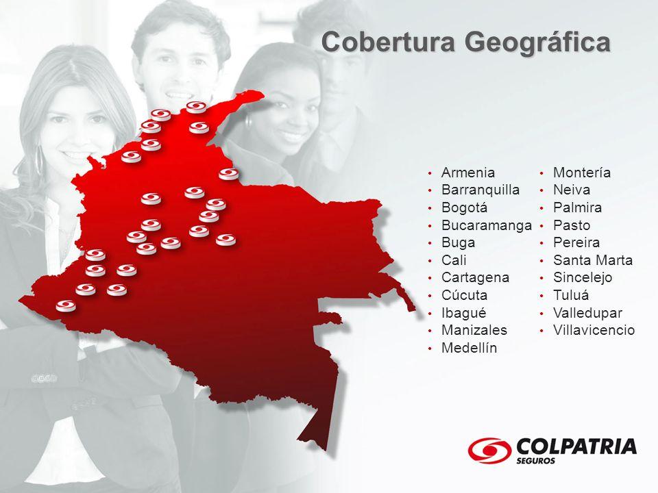 Armenia Barranquilla Bogotá Bucaramanga Buga Cali Cartagena Cúcuta Ibagué Manizales Medellín Montería Neiva Palmira Pasto Pereira Santa Marta Sincelej