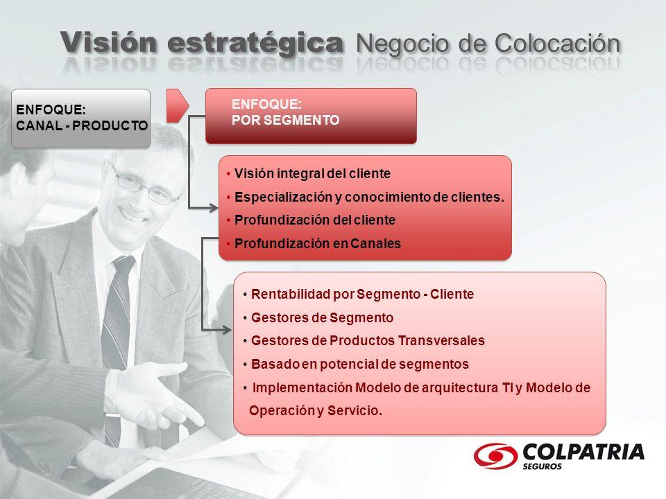 ENFOQUE: CANAL - PRODUCTO ENFOQUE: POR SEGMENTO Visión integral del cliente Especialización y conocimiento de clientes. Profundización del cliente Pro