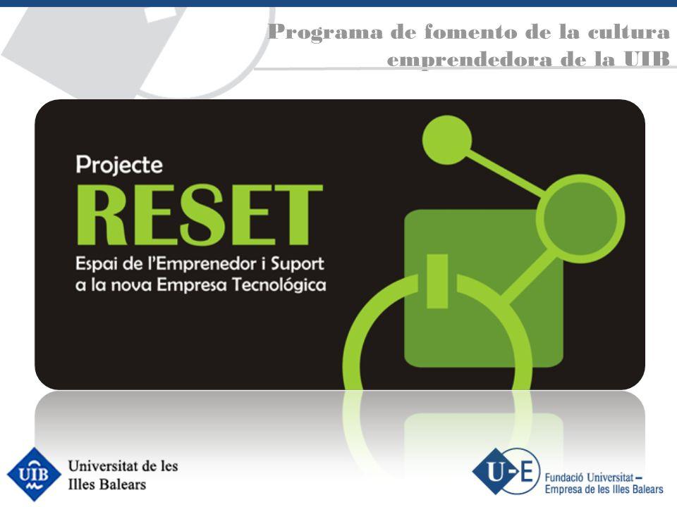Programa de fomento de la cultura emprendedora de la UIB