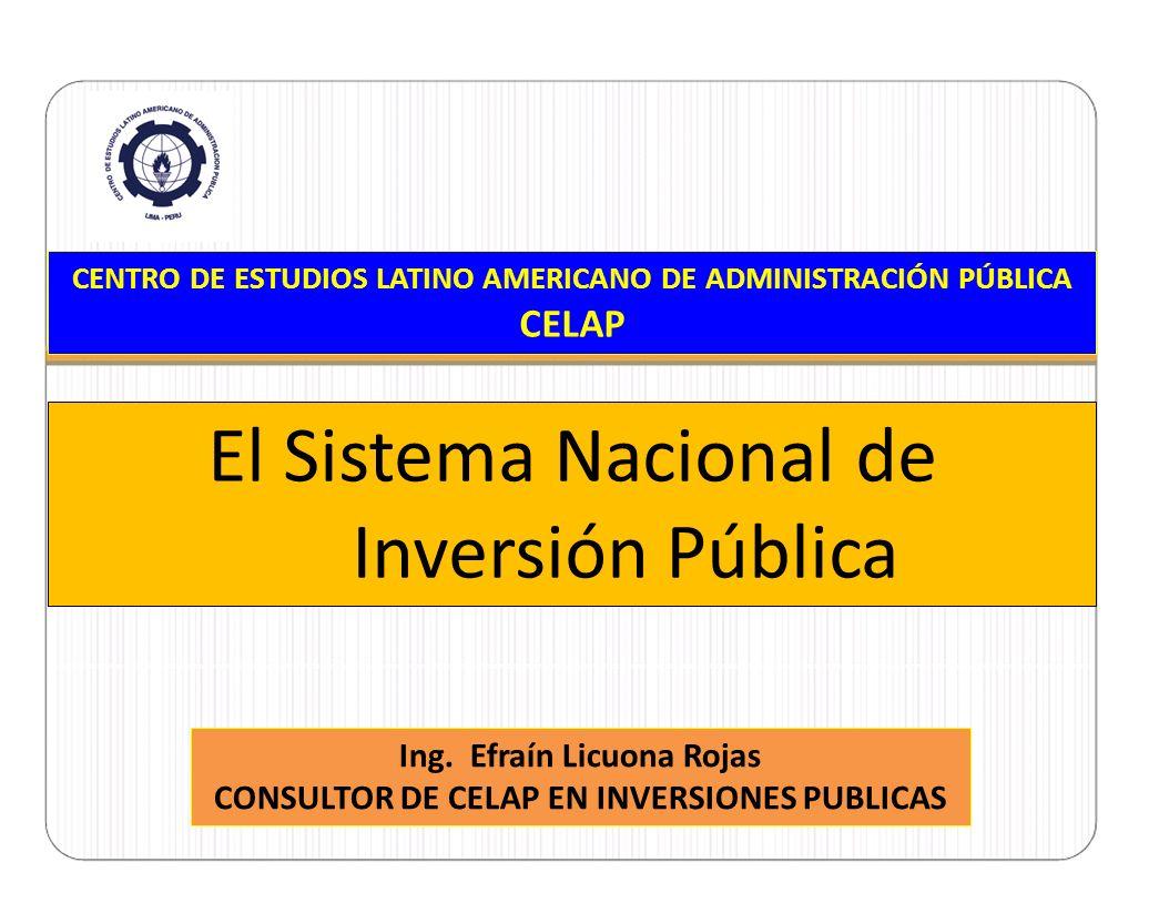 CELAP Nueva Directiva General del SNIP Se encuentra vigente desde el 10.04.2011