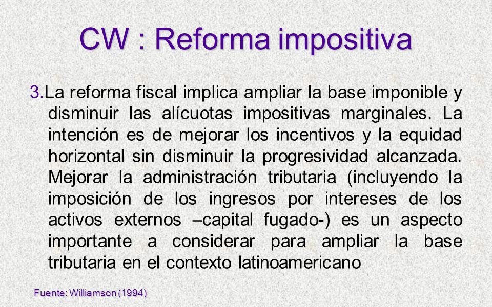 3.La reforma fiscal implica ampliar la base imponible y disminuir las alícuotas impositivas marginales. La intención es de mejorar los incentivos y la
