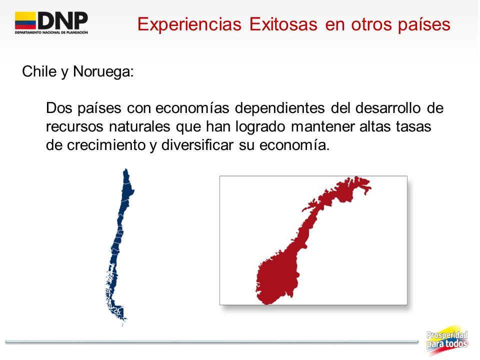 Experiencias Exitosas en otros países Chile y Noruega: Dos países con economías dependientes del desarrollo de recursos naturales que han logrado mant