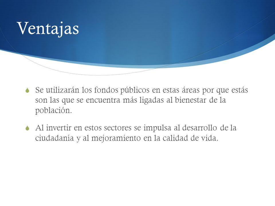 Ventajas Art.67 Organización eficiente y eficaz de los recursos.